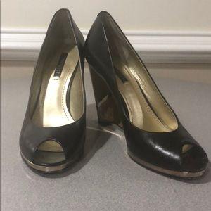 Fancy wedge heels